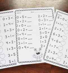 Valentine's Day Math Worksheets for Kindergarten – Mary Martha Mama [ 760 x 1140 Pixel ]
