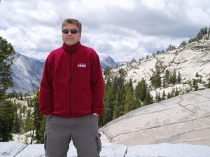 John enjoying the summer weather at Olmstead Point in Yosemite National Park