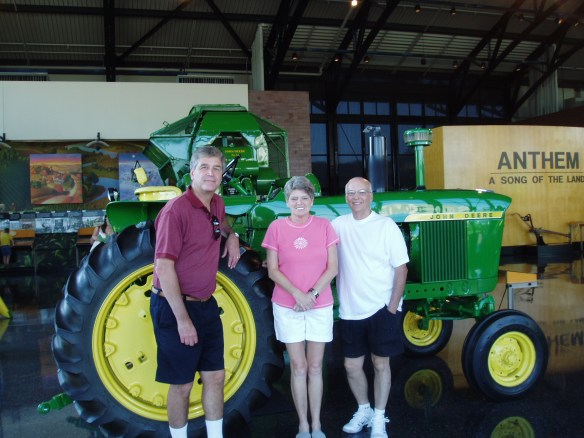 With Bobbi and Dale Hansen at John Deere