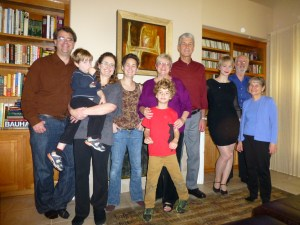 Our yearly Thanksgiving photo.  Left to right -  Jonathan, Sam, Ryan, Leigh Henderson, Mary and Nathan, John, Sarah, John Henderson and Rose Henderson