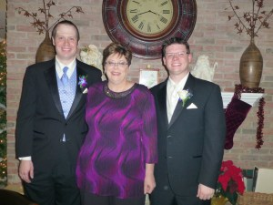 Phyllis with Andy and Mike
