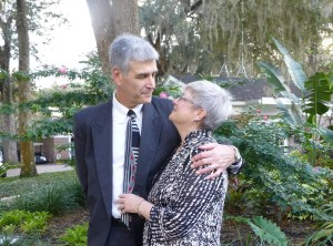 While we waited for the wedding to get started we took some pictures of each other. John and Mary