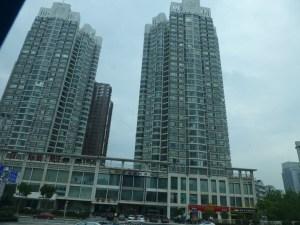 Apartment buildings in Wuhan