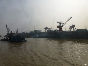 Industry along the river