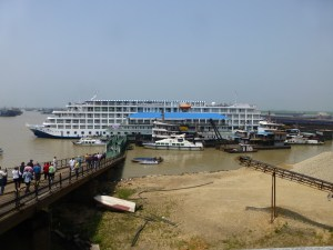 Our boat docked outside of Yueyang