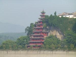 Shibaozhai Pagoda in the distance