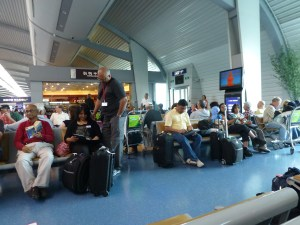 At the Chongquing airport awaiting our scary plane ride to Xian