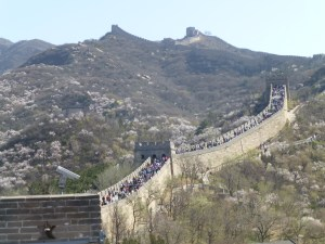 People heading off to see the tribute to Mao