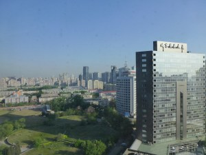 View of Beijing out of our hotel window