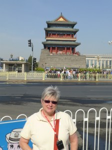 Mary in front of other guard pagoda