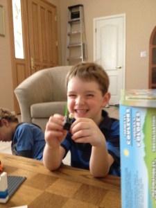 Sam and his Duplo set