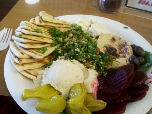 A new favorite place to eat, Mad Pita.  Jon discovered it and now it is our go to place for Mediterranean food.