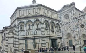 Florence Baptistry, an octagonal building begun in 1059