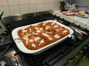 Real Italian lasagna made by Sarah