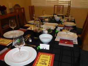 Seder table set