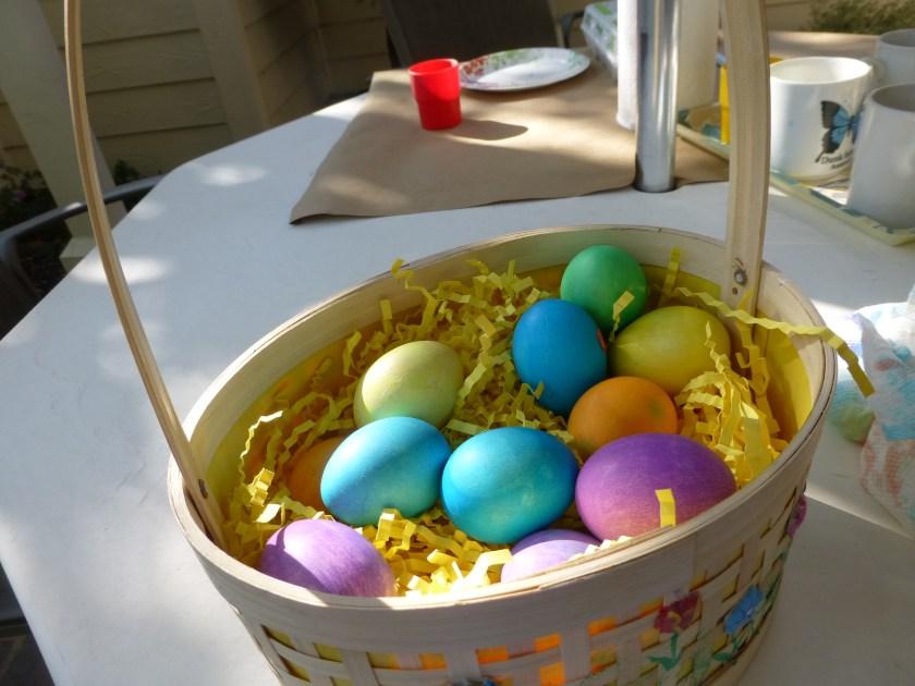 Sam's picture of his Easter eggs