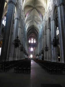 Interior of St. Stephen's Cathedral in Bourges