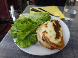 I did not realize that a croques-monsieur had cheese on the outside!