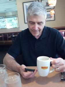 Since we need to break up the trip about an hour at a time, first stop is for some breakfast and gas in Oakdale, CA.