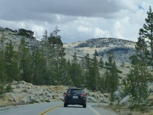 Although the scenery is spectacular, we are now in a long line of cars