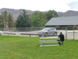 After passing Mono Lake and driving the exciting rollercoaster road, we arrive in spooky Benton where we have never seen anyone at this park.