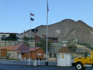 """Tonopah in the early morning light. The """"T"""" on the hillside helps you to remember where you are."""