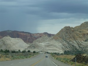 A view of Snow Canyon from Utah 18