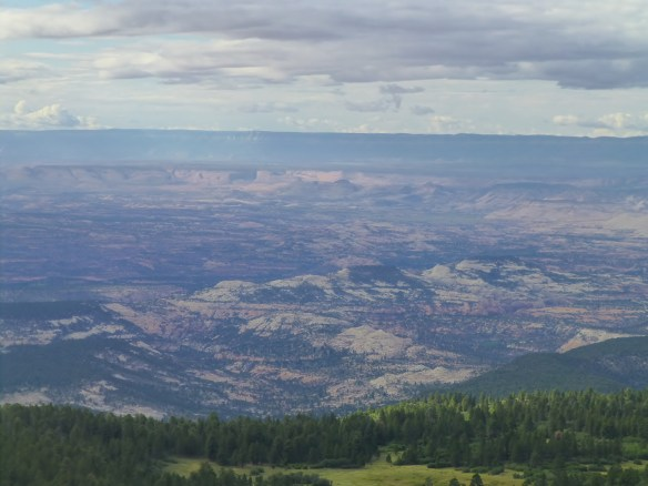 View of the land that we traveled over yesterday from atop Boulder Mtn.