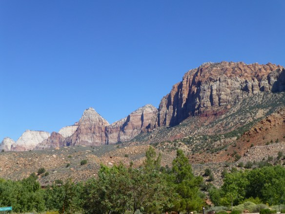 The views of Zion N.P. are beautiful.