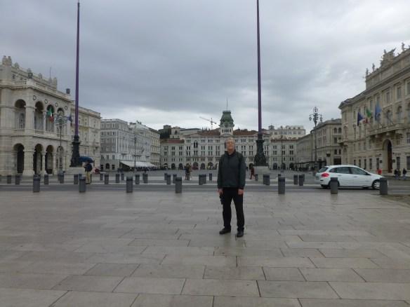John in front of the Piazza del Unita d' Italia