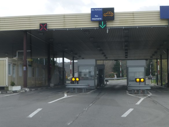 The border to Slovenia and the one into Croatia aren't total open like the rest of the EU