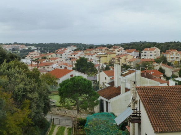 Our hotel is in the town of Uvala where it is not raining at the moment