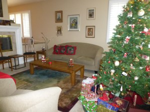 Living room awaits Pilat Eve guests