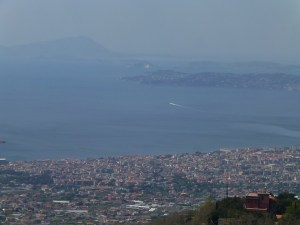 On the way back down Mt. Vesuvius a picture of the Bay of Naples