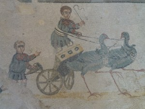 Children in a chariot race