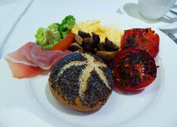 Best meal on the boat is breakfast