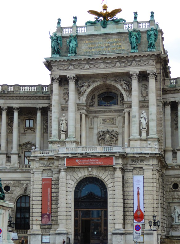 Porch of the palace from which Hitler declared the annexation of Austria to cheering crowds