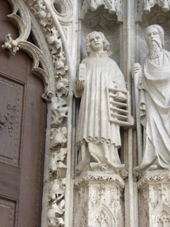 Facade carving of St. Lawrence