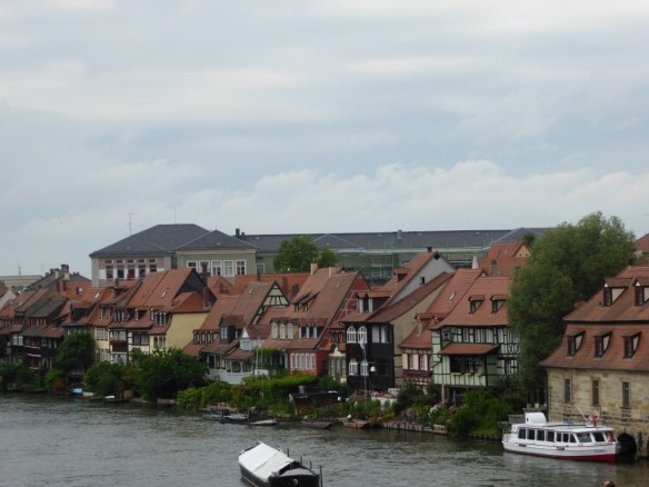 View of Bamberg's Little Venice from the bridge