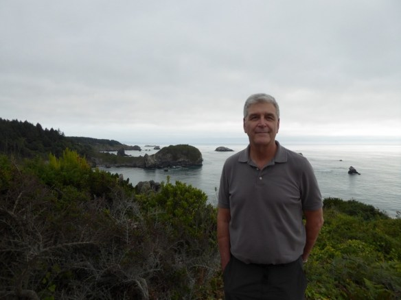 John with Whale Rock in the background