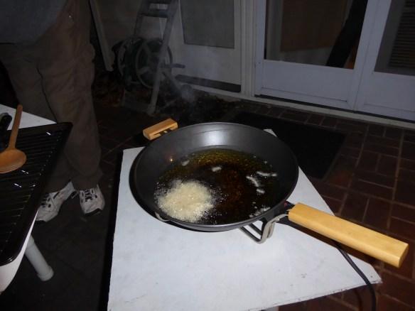 Frying disk of potato yumminess