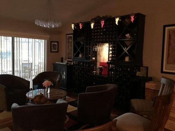 Phyllis and Gary's wine room