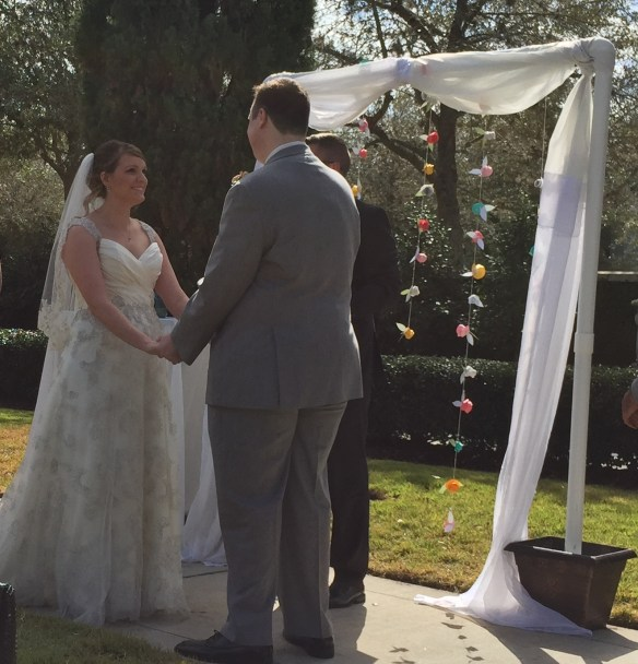 Brittany and Andy exchange vows