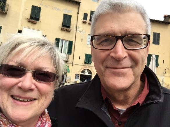 John and I with a bit of foolishness - a selfie!