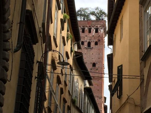 John and I take a pass while Sarah climbs the Guinigi Tower.