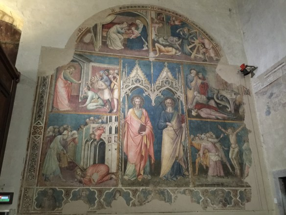 Saints performing miracles and getting martyred