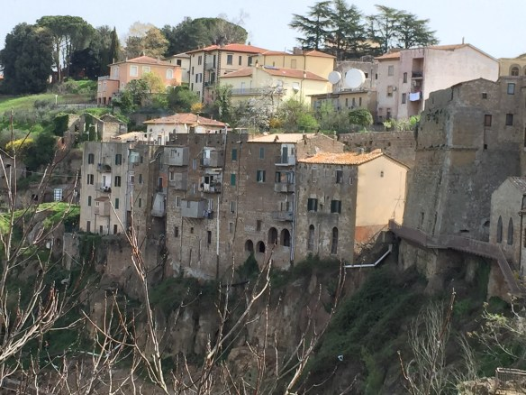 It looks like much of Pitigliano is in danger of sliding off the cliffs