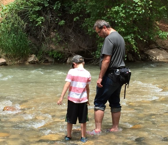 Daddy and Sam in the Virgin River