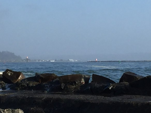 Looking towards the entrance to Humboldt Bay