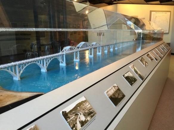 Model of the Conde McCullough Alsea Bay Bridge